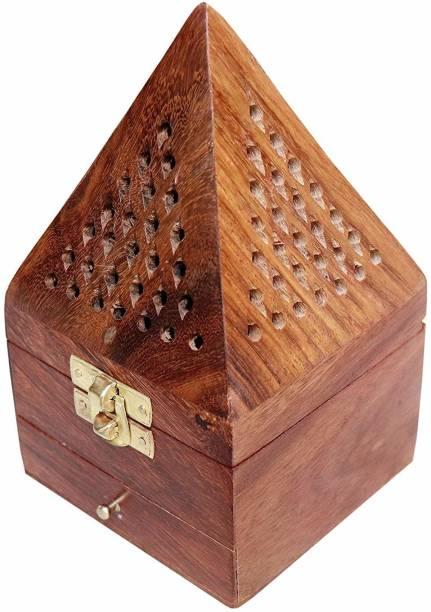 IWUD ENTERPRISES dhoop batti agarbatti Holder Stand Nature Wood Wooden Incense Holder