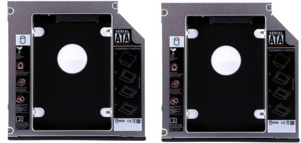 """Teratech (Pack of 2) 9.5mm 2nd Hard Disk Drive Bay (For 2.5"""" HDD/SSD, Black) Internal Optical Drive"""
