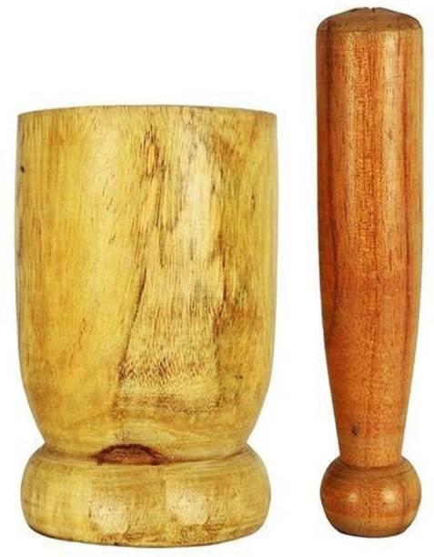 SHRI ANAND Premium Quality Handmade wooden kitchen okhli masher Wood Masher