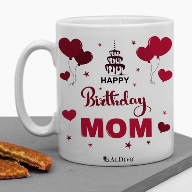 alDivo Gift Happy Birthday Mom Printed Ceramic Coffee Mug