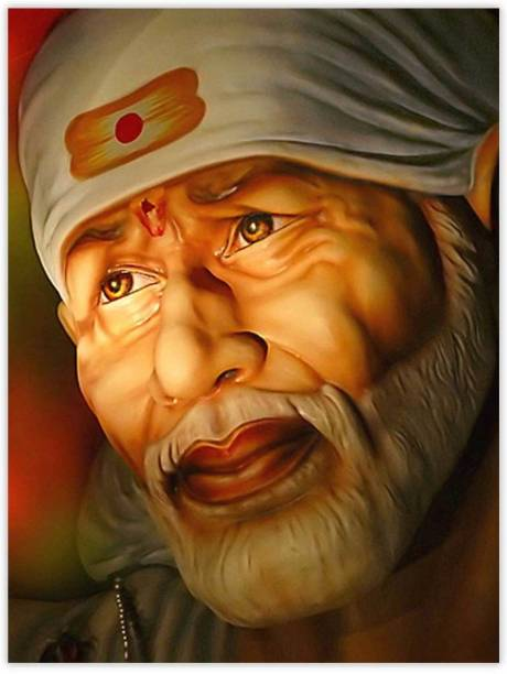 Religious Saibaba Paper Poster Paper Print