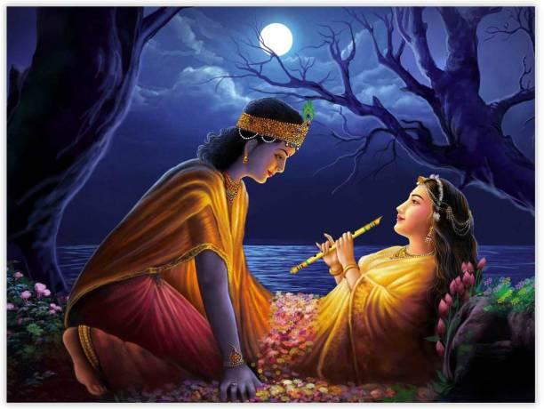 Love Of Radha Krishna Paper Poster Paper Print