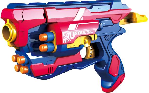 Miss & Chief Manual Blaze Storm Gun Blaster with 10 Foam Bullets for Kids Guns & Darts