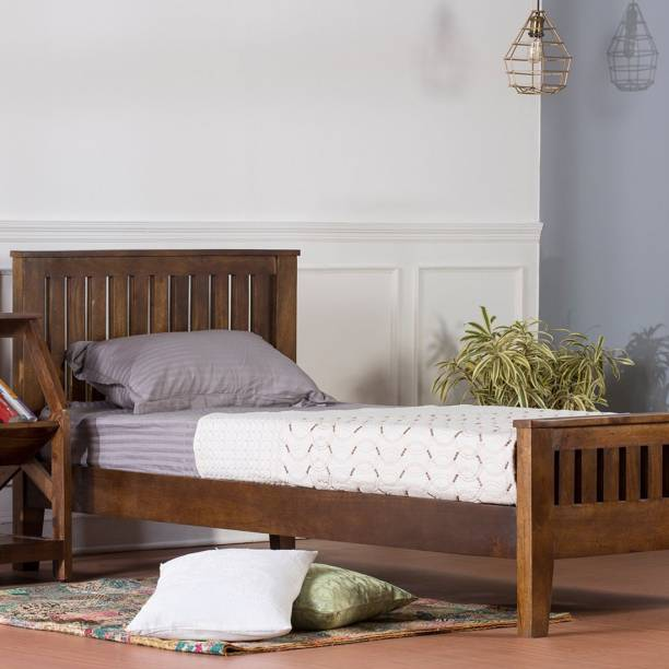 pipercrafts Sheesham Wood Solid Wood Single Bed