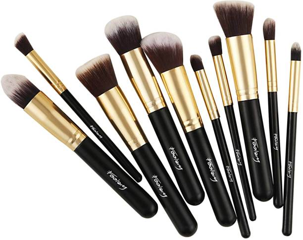 FOOLZY Set of 10 Professional Makeup Brushes