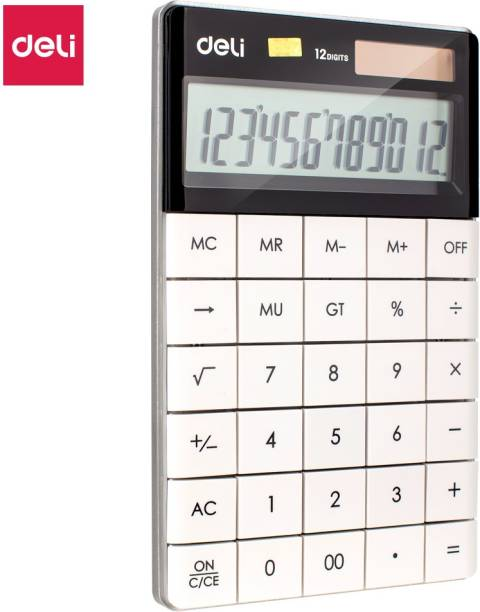 Deli W1589 Modern Compact White 120 Step check Basic  Calculator