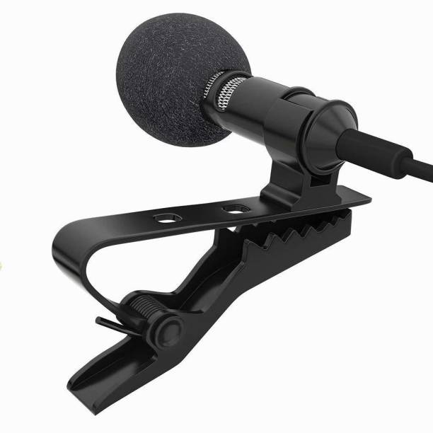 PORTLIX 3.5mm Clip Microphone For Youtube | Collar Mike for Voice Recording | Lapel Mic Mobile, PC, Laptop, Android Smartphones, DSLR Camera Microphone Microphone 3.5MM Clip Microphone