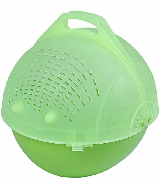 BONIRY Plastic Fruit & Vegetable Basket Green Plastic Fruit & Vegetable Basket