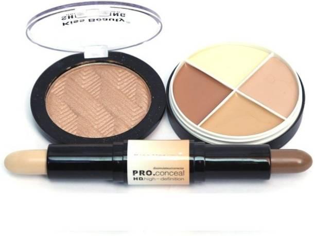 Kiss Beauty Beauty Face 3in1 Contour Kit 23001  Concealer