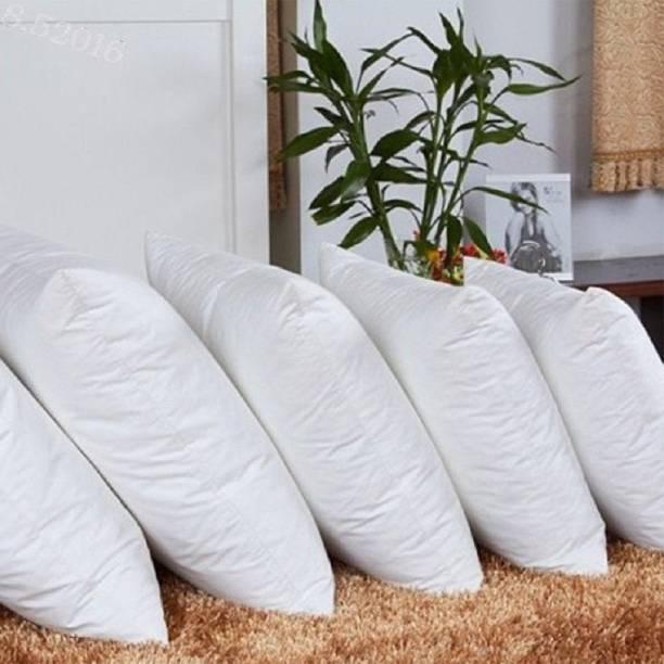 Dexl Polyester Fibre Solid Cushion Pack of 5