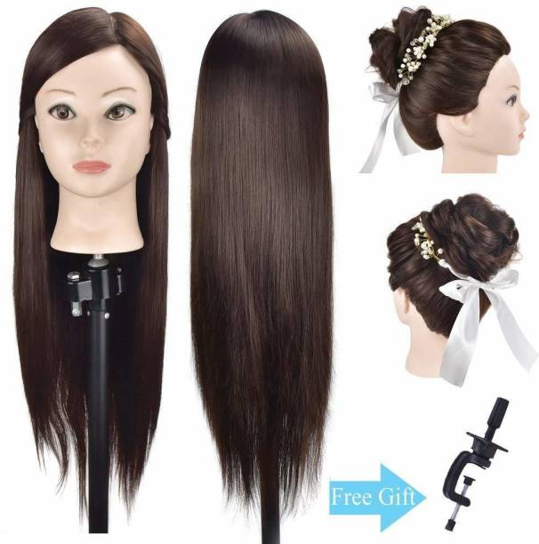 BLOSSOM Mannequin Head With  For Training With Clamp Holder Salon Use Dummy For  Styling Black Hair Extension