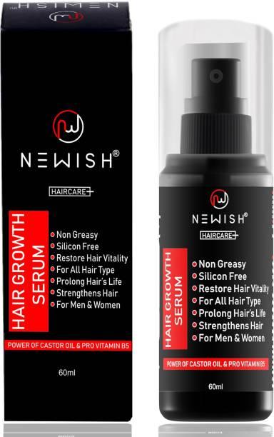 NEWISH Hair Growth Serum For Damaged Hair, straightening, and Hair Restore