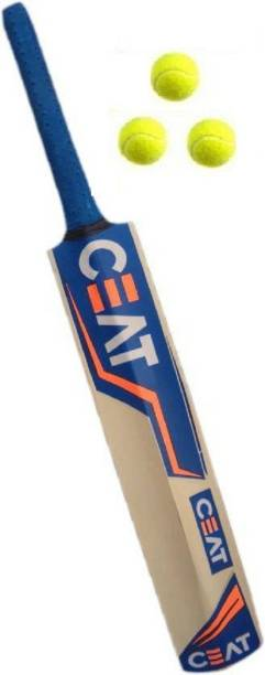 CreativeCorner SRS CEAT NEW POPULER TANNIS BAT COMBO (CEAT BAT+3BALL) Cricket Kit