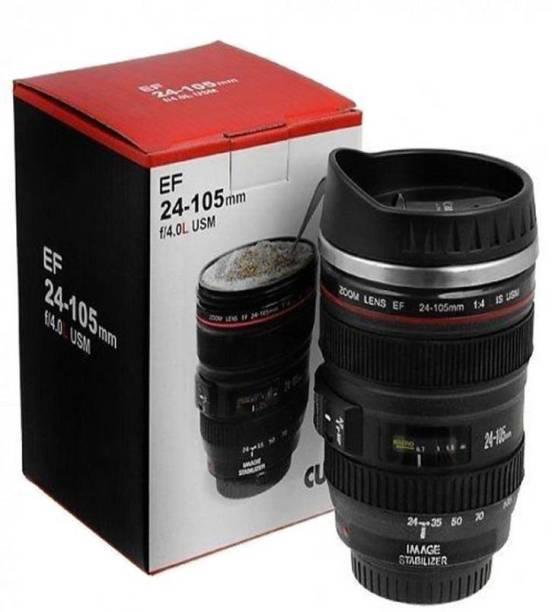 Coinfinitive Camera Lens Shaped Coffee With Lid Camera Lens Sipper Stainless Steel Stainless Steel Coffee Mug