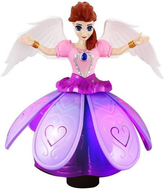 js cool Dancing Fairy Princes Angel Girl Robot with Lights and Music