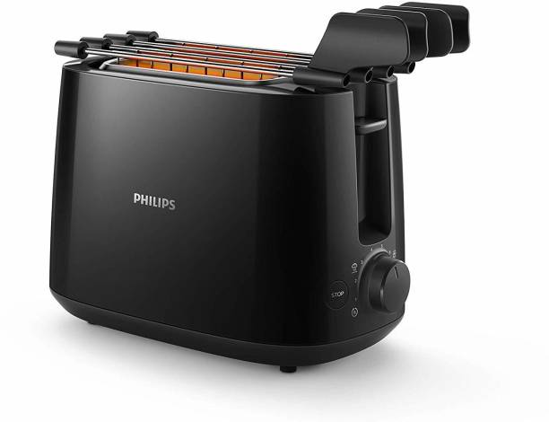PHILIPS HD2583/90 Two in One 600 W Pop Up Toaster