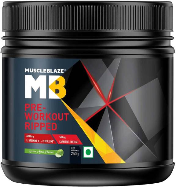 MUSCLEBLAZE Pre-Workout Ripped (Green Apple) EAA (Essential Amino Acids)