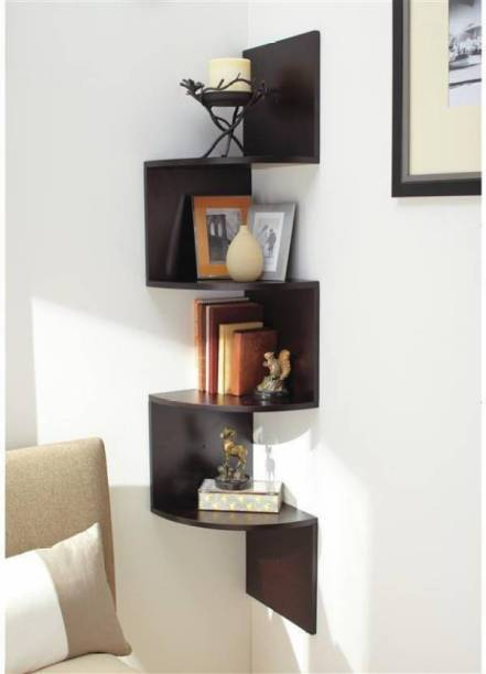 Martemporium Corner wall stand Wooden Wall Shelf