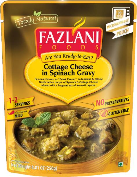 FAZLANI FOODS Ready to Eat Palak Paneer Curry, (Pack of 1, 250gm) 250 g