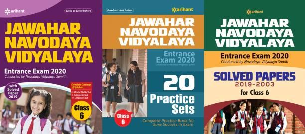 Jawahar Navodaya Vidyalaya Entrance Exam 2019 Class 6th WITH 20 Practice Class 6th Jawahar Navodaya Vidyalaya 2019 AND Solved Papers (2019-2003) For Class VI COMBO 3 BOOKS