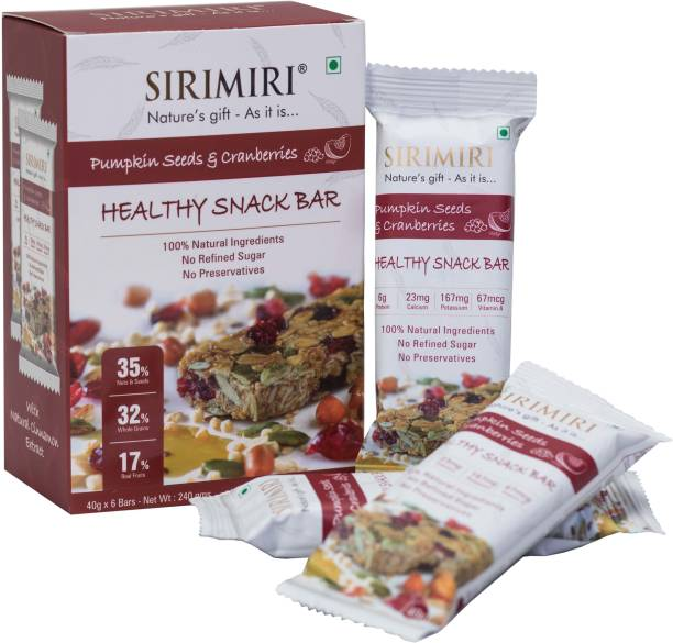 SIRIMIRI Nutrition Bar - Pumpkin Seeds & Cranberries