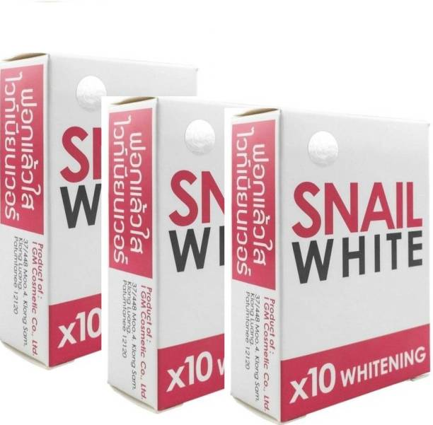 Snail White X10 Skin Whitening Soap with Glitathione (Pack of 3)