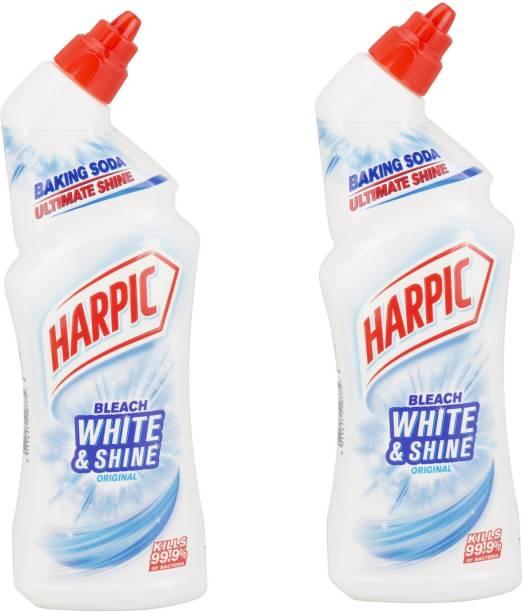 Harpic White And Shine Bleach Original 750ml Pack Of 2 Regular Liquid Toilet Cleaner
