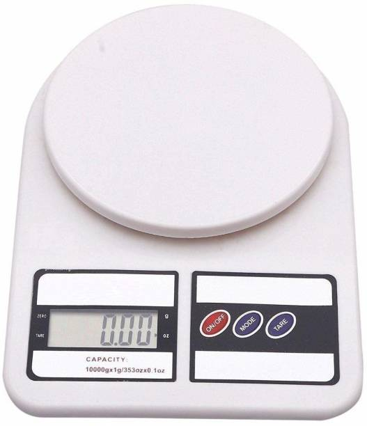 Labdhi Creation Electronic Kitchen Digital Weighing Scale 10 Kg Weight Measure Liquids Flour,White Weighing Scale