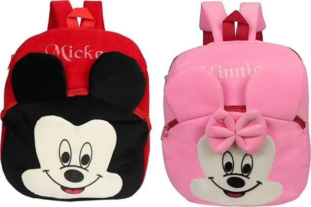 3G Collections Bag/ Picnic Bag/ Teddy Bag For Age 2-6yrs-Pack Of 2 Waterproof School Bag