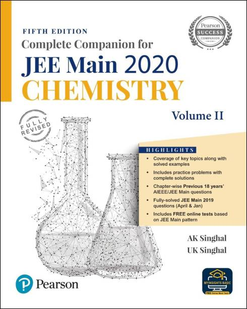 Complete Companion for JEE Main 2020 Chemistry Volume 2 | Previous 18 Year's AIEEE/JEE Mains Questions | Fifth Edition | By Pearson