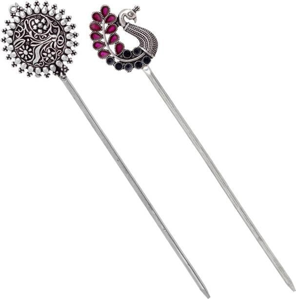 V L IMPEX Ladies Vintage Metal Handmade Hair Stick Pin Gor Girls Bun Stick