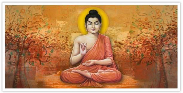 Meditating Buddha Paper Poster Paper Print