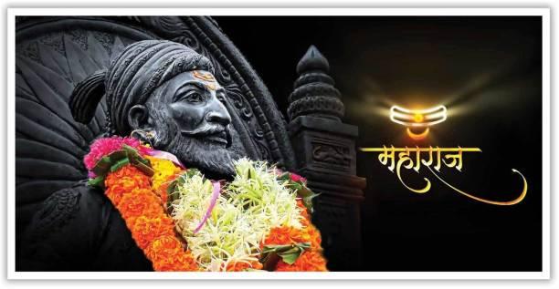 Black And White Shivaji Maharaj Paper Poster Paper Print