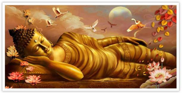 Golden Buddha Religious Paper Poster Paper Print