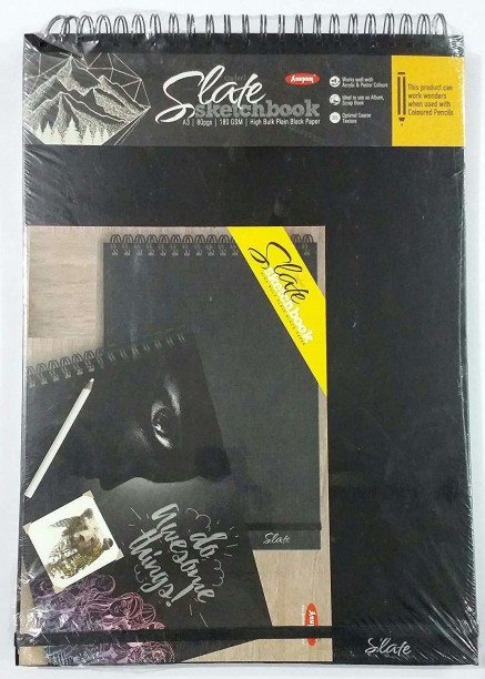 Hahnemühle Sketch Book Black Cover, A3, 64 Sheets