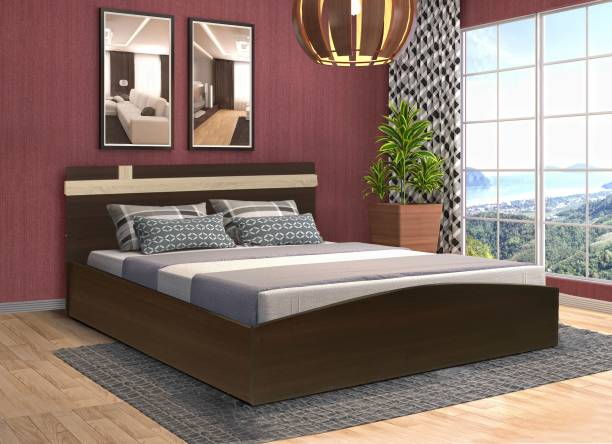 Nilkamal Edwina 01 Engineered Wood Queen Bed   Finish Color   Brown  Nilkamal Beds