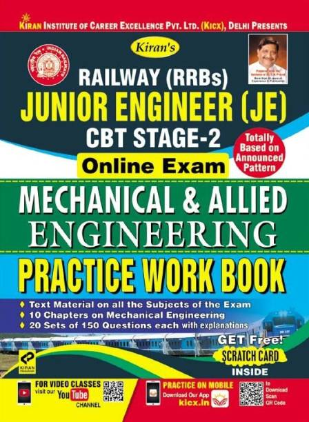 KIRAN RAILWAY (RRBS) JUNIOR ENGINEER CBT STAGE-2 ONLINE EXAM MECHANICAL & ALLIED ENGINEERING PRACTICE WORK BOOK-ENGLISH(2576)