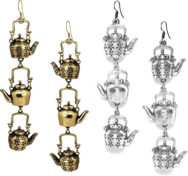 Alcove Long Hanging Kettle Charms Party Wear Alloy Drops & Danglers