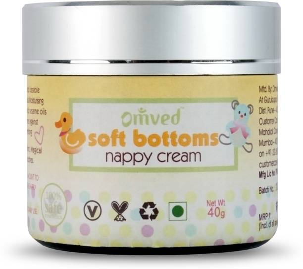 Omved Soft Bottoms Baby Nappy / Diaper Natural Rash Cream