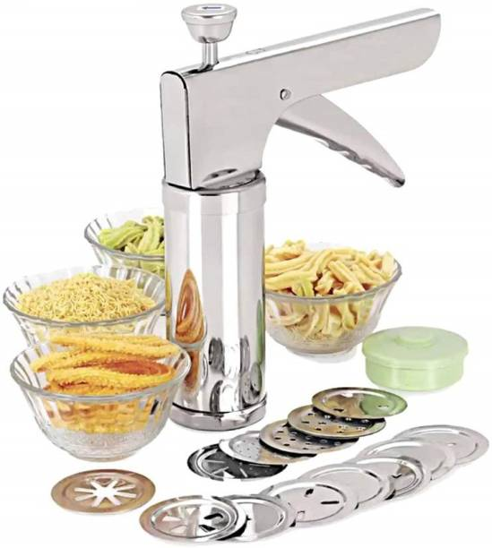 Kreyam's Kitchen Press with different type of stainless steel jalies Straight Peeler Set