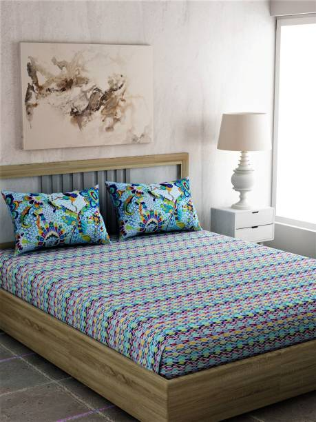 PORTICO NEW YORK 144 TC Cotton Single Printed Bedsheet