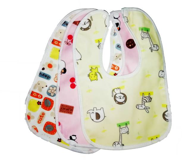 NEPEE 3pcs/set Pure Cotton 360 Round neck Baby Bibs Random colour 0-3 years kids ( multicolour )