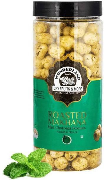 WONDERLAND Makhana Roasted Mint Chatpata Foxnuts Assorted Nuts