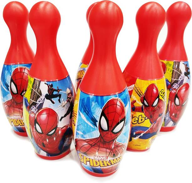 MARVEL Spider-Man 6-Pin and Ball Set for Bowling