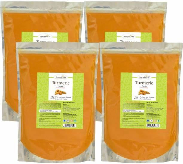Ayurvedic Life Turmeric Powder - 1 kg Value Pack of 4