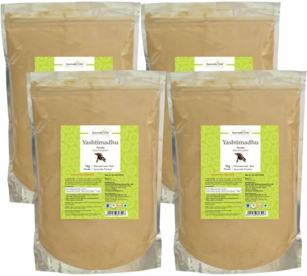 Ayurvedic Life Yashtimadhu Powder - 1 kg Value Pack of 4