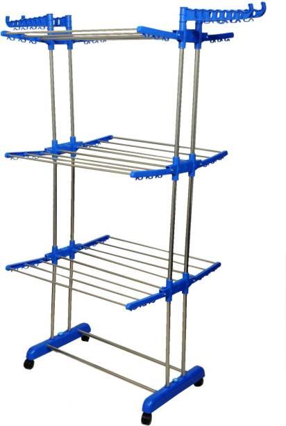 Vblue Steel Floor Cloth Dryer Stand QAZ653T