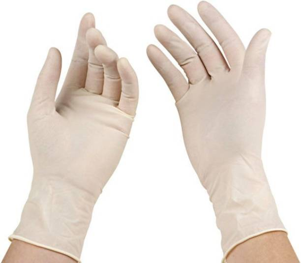 Agarwals Safety Medical Examination Gloves For Single Use(Pack of 100)(Medium) Latex  Safety Gloves