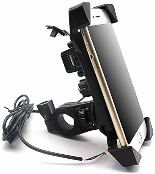 king shine Universal Bike Holder with USB Charging Port for All Size Mobile Phones 5 A Bike Mobile Charger