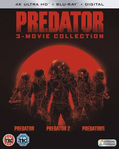 Predator Trilogy - 3 Movies Collection: Predator + Predator 2 + Predators (4K UHD + Blu-ray + Digital HD) (6-Disc Box Set) (Slipcase Packaging + Fully Packaged Import) (Region Free)